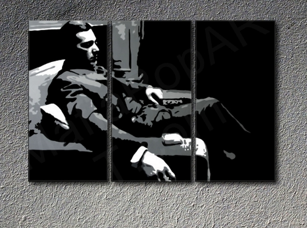 The Godfather M. Corleone Al Pacino 3 dielny POP ART obraz na stenu