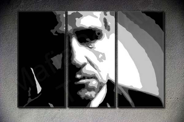 The Godfather Vito Corleone Marlon Brando 3 dielny POP ART obraz na stenu