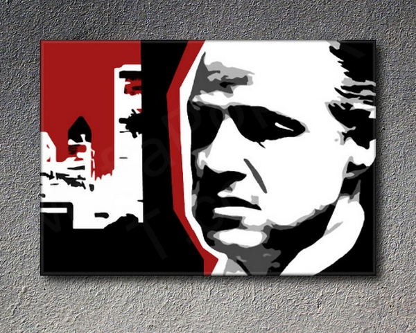 "The Godfather ""Mafia City"" Marlon Brando POP ART obraz na stenu"