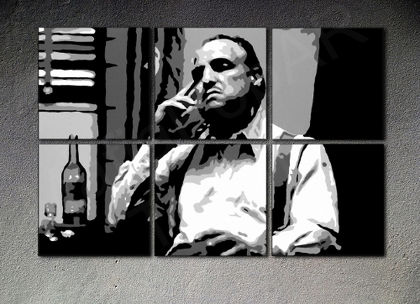 The Godfather Vito Corleone XXL Marlon Brando 6 dielny POP ART obraz na stenu