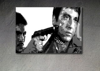 "Scarface - AL PACINO ""in chains"" POP ART obraz na stenu"