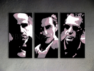 The Godfather I-III Al Pacino, Marlon Brando  3 dielny POP ART obraz na stenu