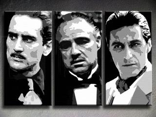 The Godfather I. II. III. 3 dielny POP ART obraz na stenu